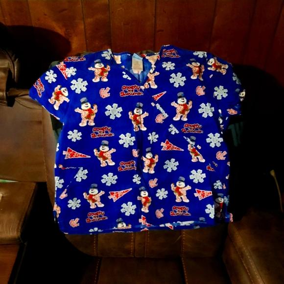Christmas scrub top